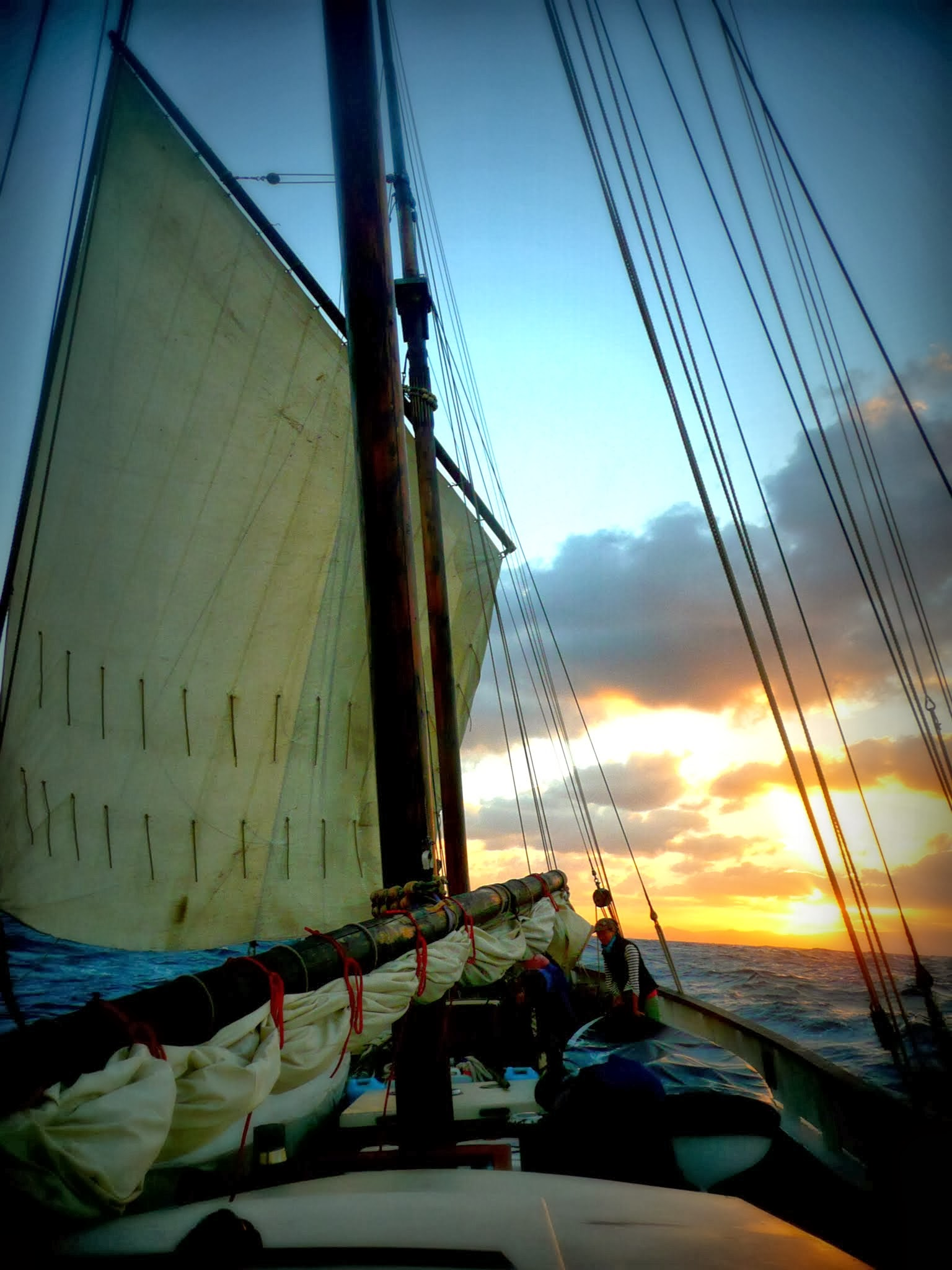 Sailing off into the sunset, Cornish sailing holiday